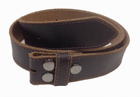Wholesale Genuine Leather Snap Buckle belt brown