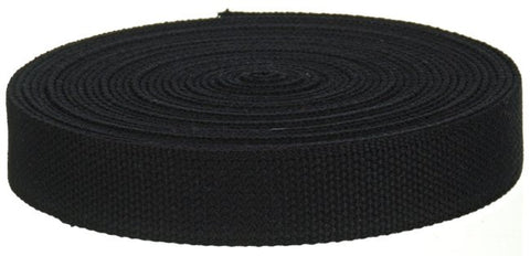 "Wholesale Cotton Webbing - 10 Yards - 1.25"" Medium Heavy Weight for Key Fobs, Purse Straps, Belting"