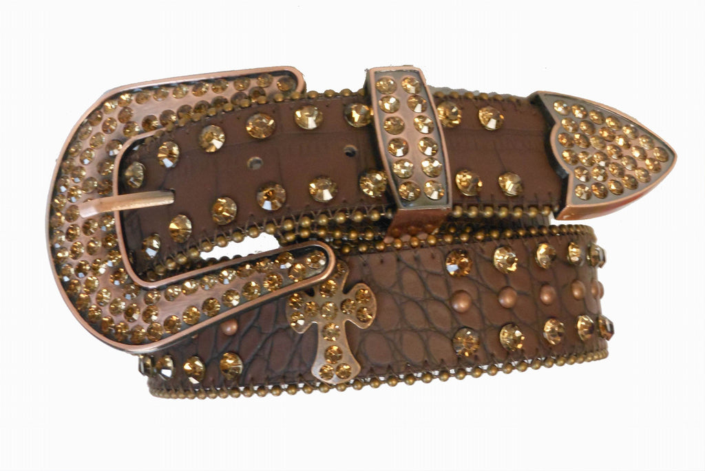 Western Rodeo Show Rhinestone Cross  Belt wholesale 50121BNZ