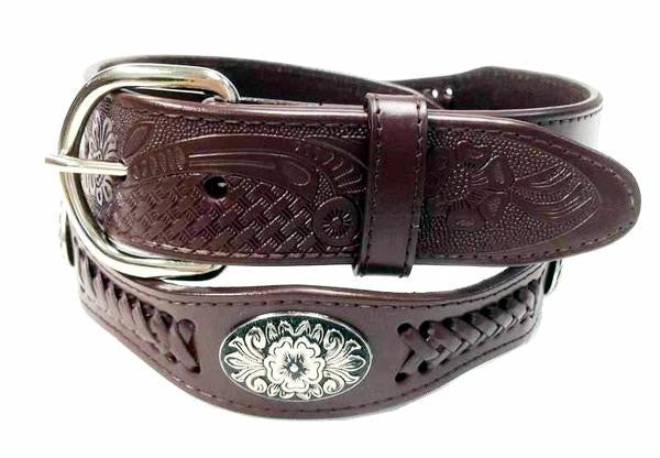 Wholesale Western COWBOY SCALLOPES concho leather belt wholesale 4176