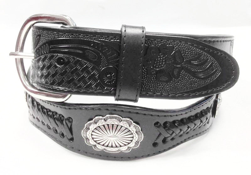 Wholesale Genuine cowboy western leather concho belt