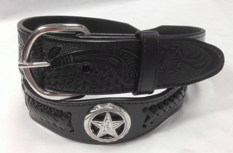 Wholesale Western Men leather belt wholesale TEXAS STAR concho 4178BK