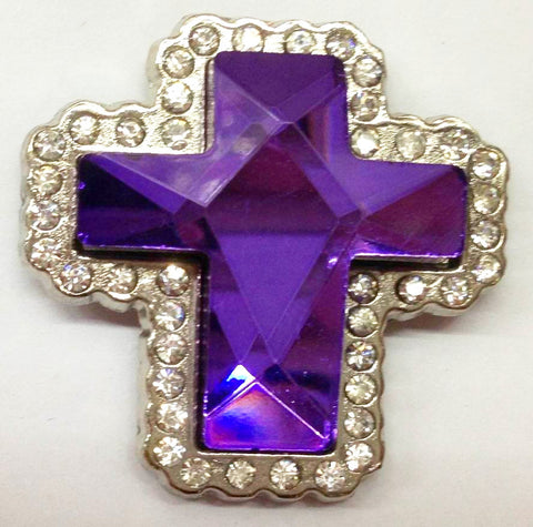 Wholesale Western prism cut Purple Cross Conchos 6 pcs CH132PU