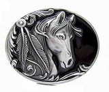 rodeo horse western belt buckle