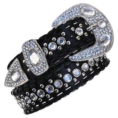 Western cowgirl Rhinestone Studs Fashion Belt Wholesale 1103BK