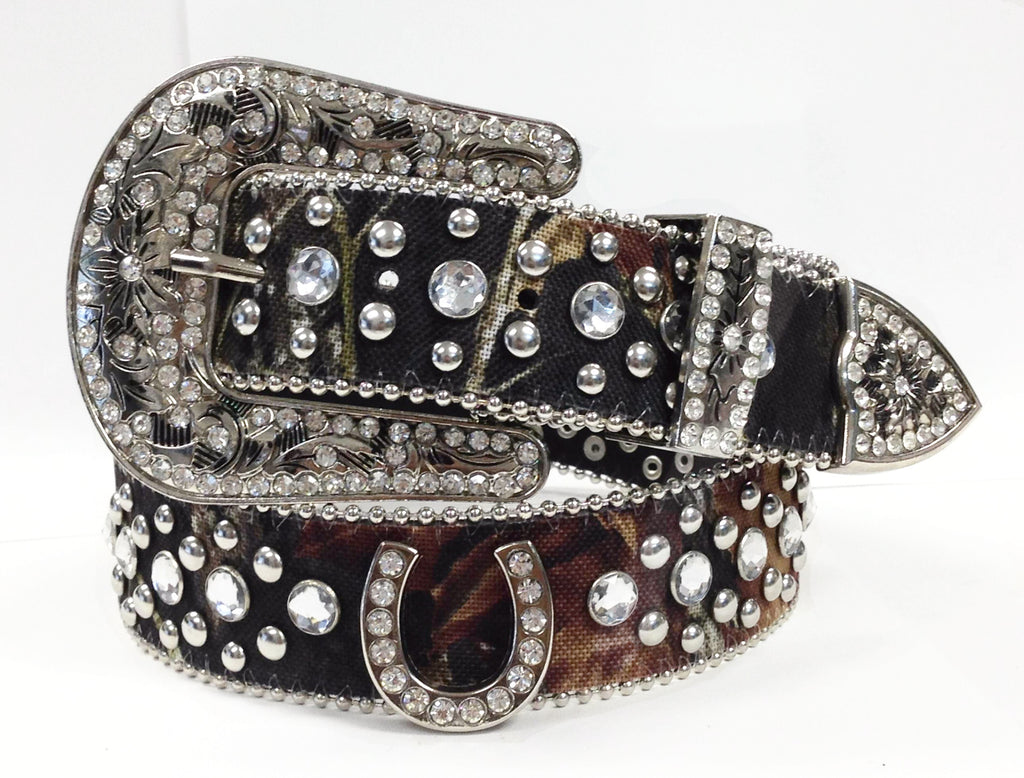 Wholesale Western Camouflague Horse Shoe Cowgirl Rhinestone Belt 50125CM