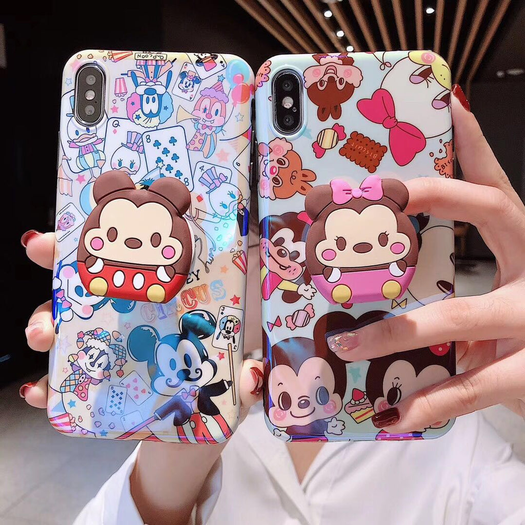 Mickey/Minnie case with matching grip for IPhone - The Glitzy Shop