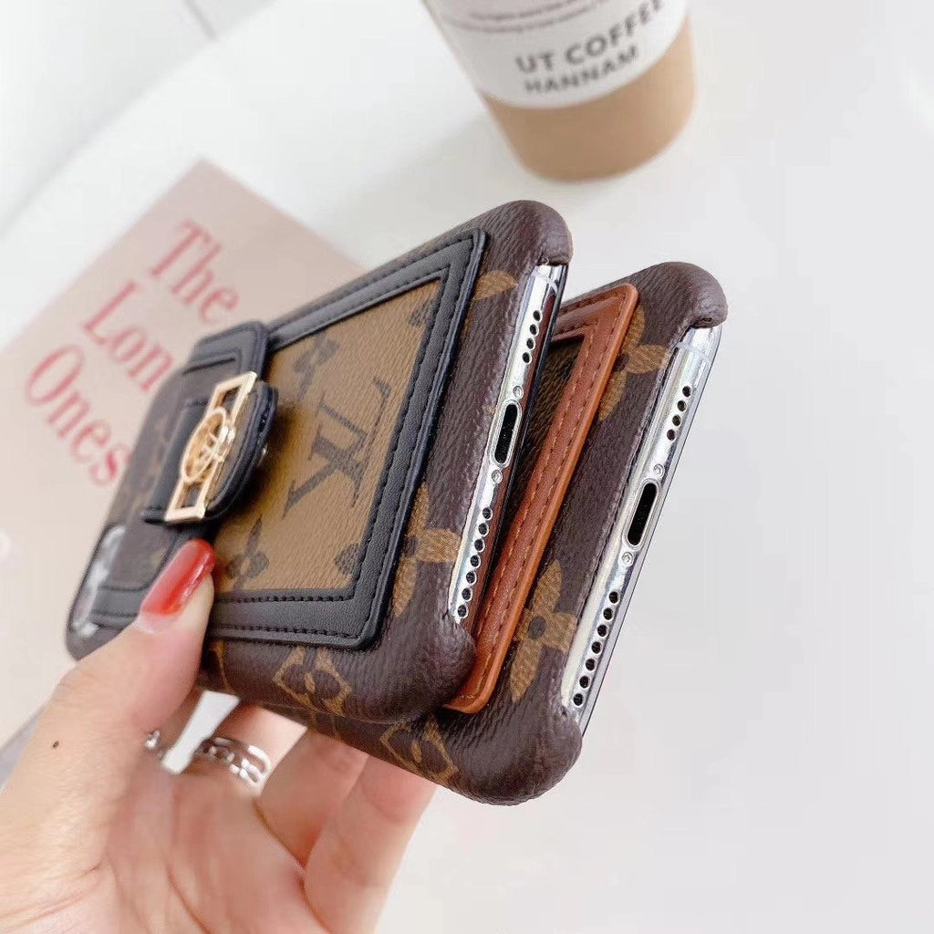 Luxe Iphone case with card/cash pocket
