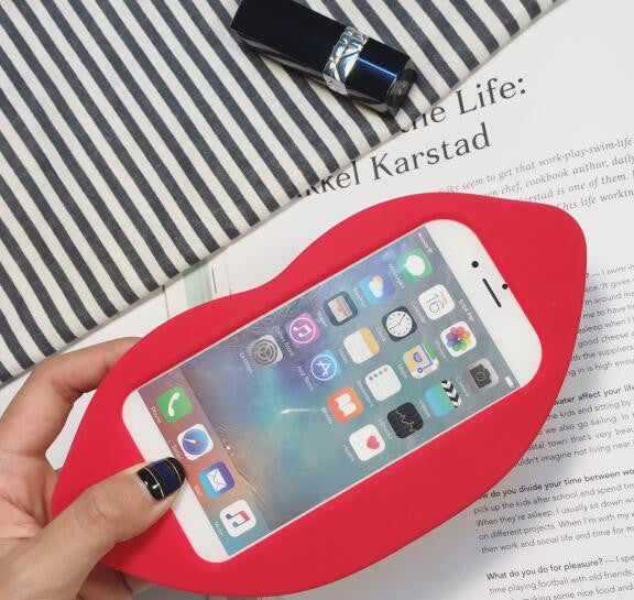 3D Glitzy Red Lip Silicone Case - The Glitzy Shop