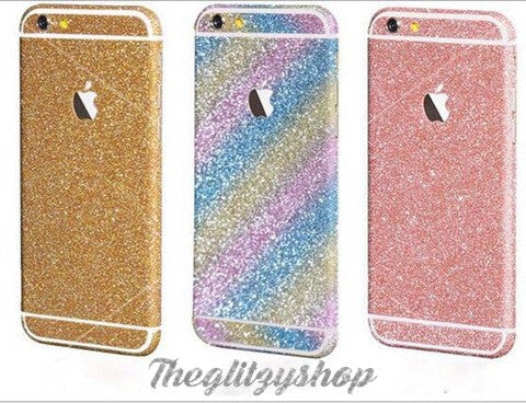 Glitzy glitter decal for Iphone & Samsung - The Glitzy Shop