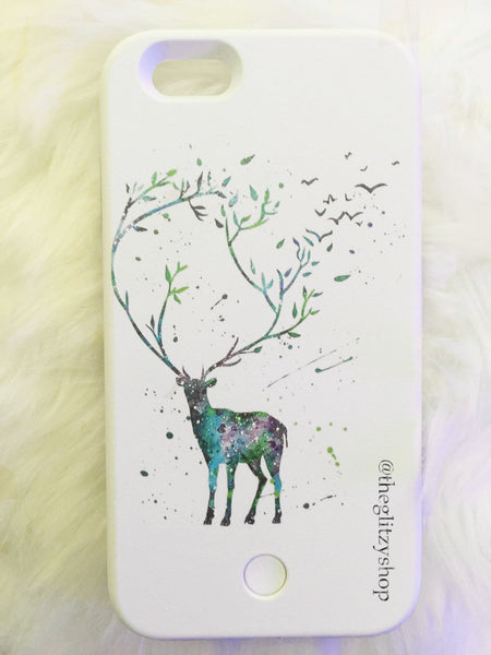 """Fantasy Deer"" LED Selfie Case-CLEARANCE - The Glitzy Shop"