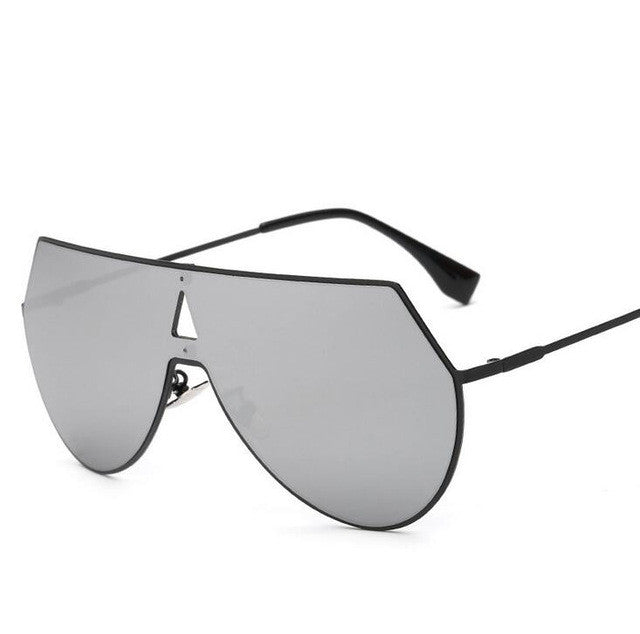 "Black Mirrored ""Lena"" Aviators - The Glitzy Shop"