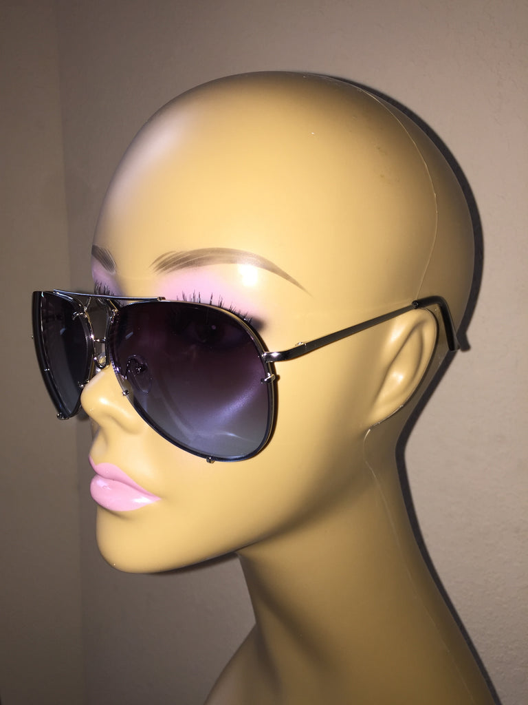 """Almost Famous"" Aviators Blue - The Glitzy Shop"