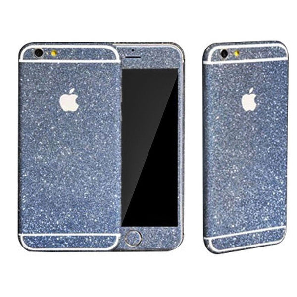 Blue glitzy glitter decal for Iphone & Samsung - The Glitzy Shop