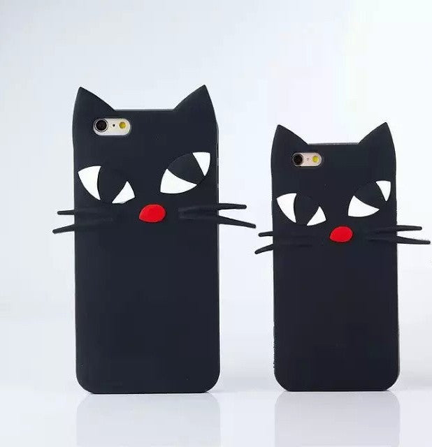 Whiskers the cat silicone case for Iphone - The Glitzy Shop
