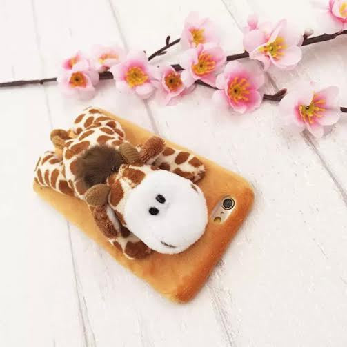 Giraffe furry animal case-Iphone - The Glitzy Shop