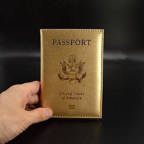 The Glitzy Passport Cover-Gold - The Glitzy Shop