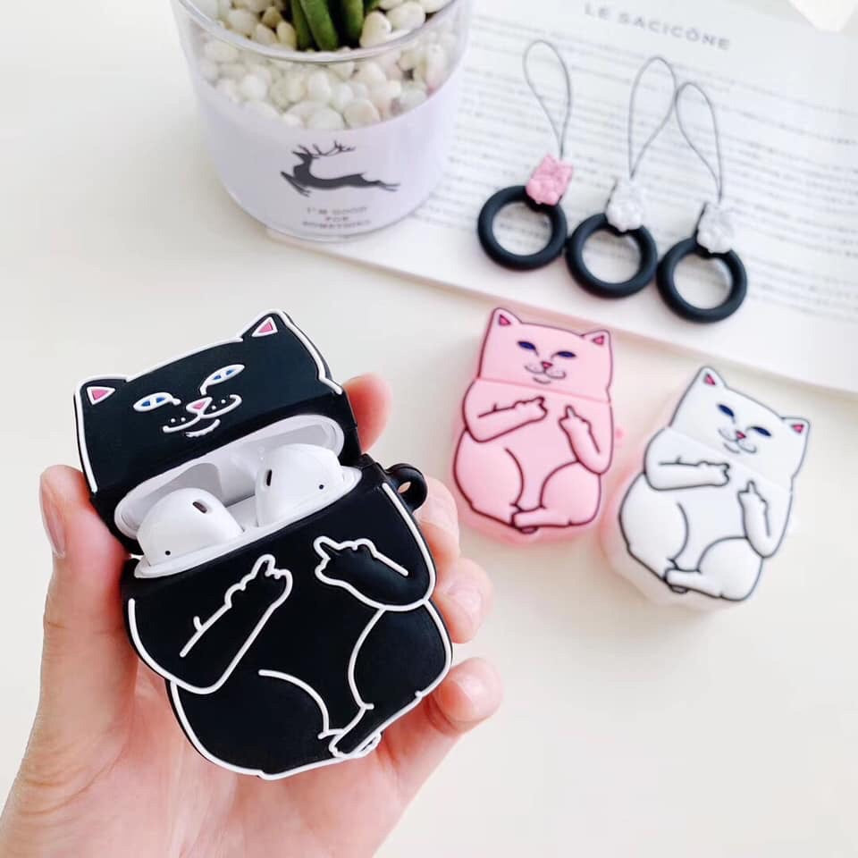 Rude Cat AirPod Case Cover - The Glitzy Shop