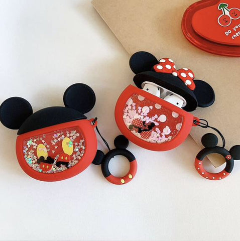 Minnie/Mickey Floating Glitter AirPod Case Cover - The Glitzy Shop