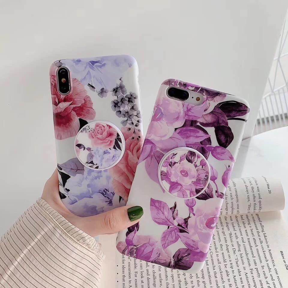 Flower grip case for Iphone - The Glitzy Shop