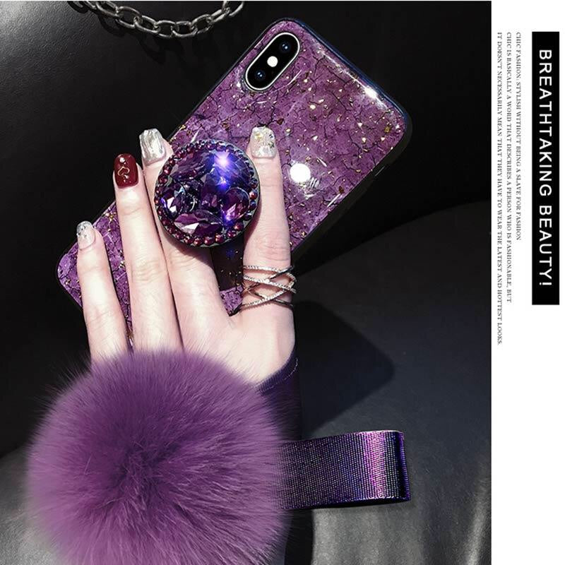 Matching diamond holder with case for Samsung & Iphone - The Glitzy Shop