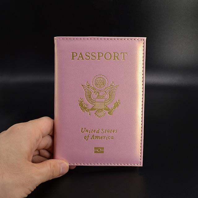 The Glitzy Passport Cover-Iridescent Pink - The Glitzy Shop