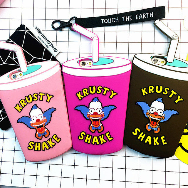 Krusty shake silicone Iphone case - The Glitzy Shop