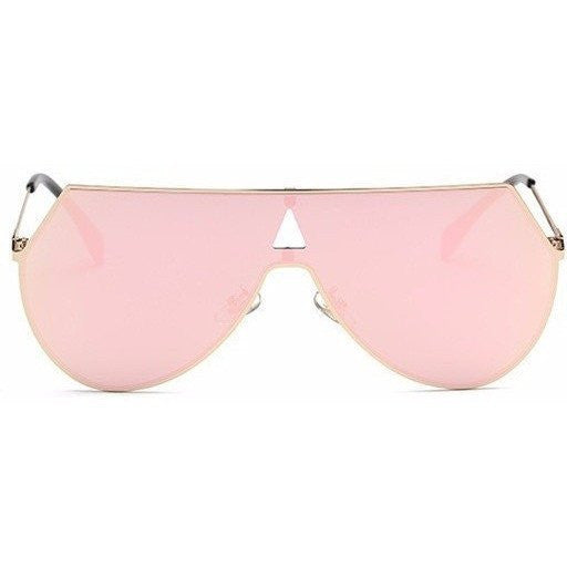 "Rose Mirrored ""Lena"" Aviators - The Glitzy Shop"