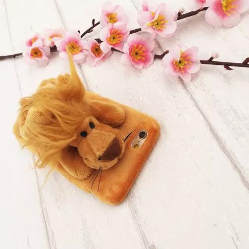 Lion furry animal case-Iphone - The Glitzy Shop