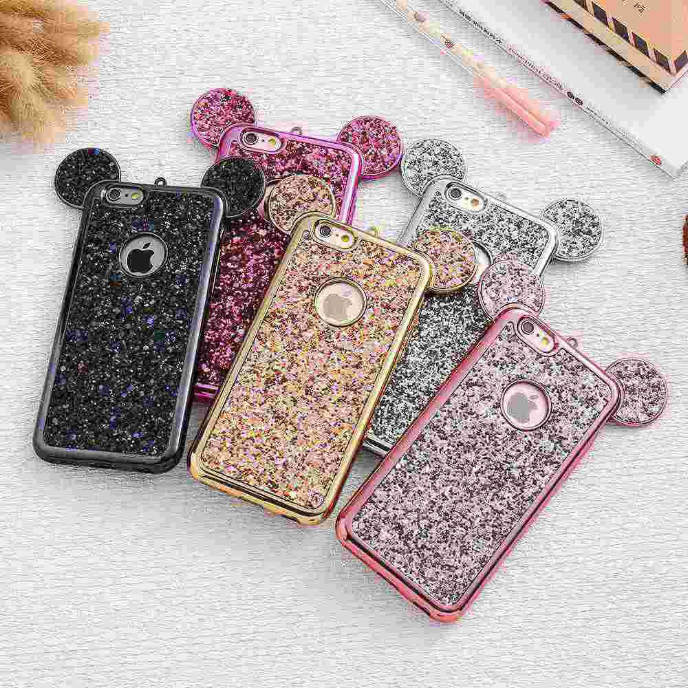 Mouse Ears Glitzy Case for Iphone & Samsung - The Glitzy Shop