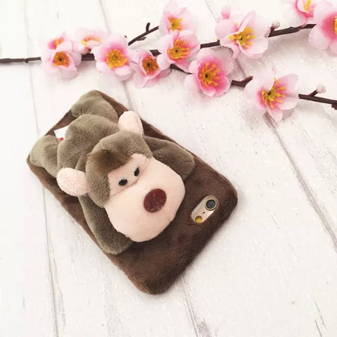 Monkey furry animal case-Iphone - The Glitzy Shop