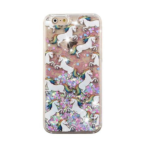 Unicorn liquid case for Iphone - The Glitzy Shop