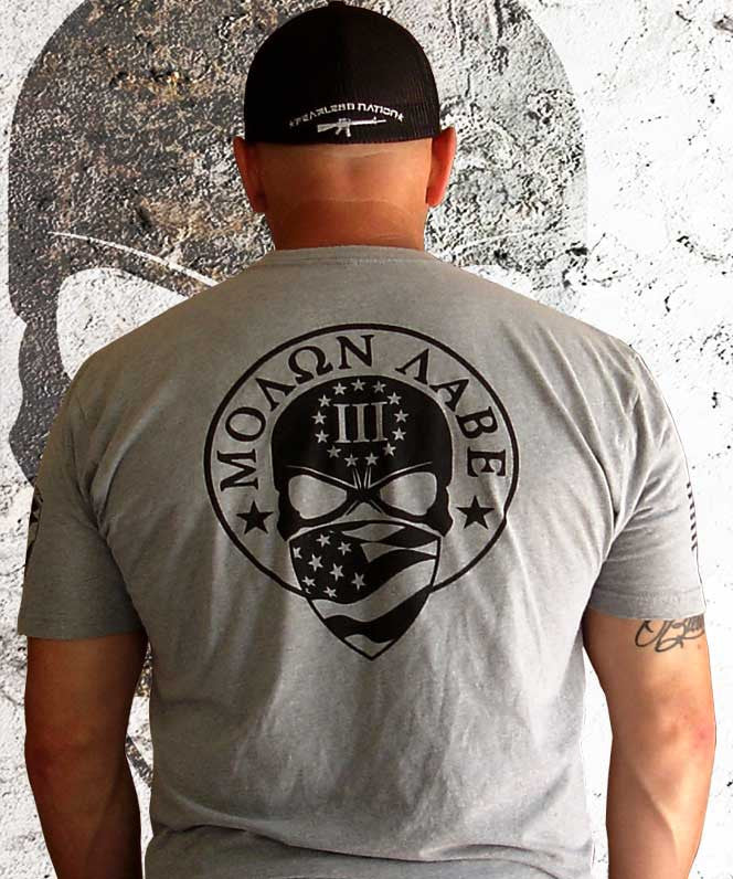 New Grey 3 Percenter Shirt by Fearless Nation