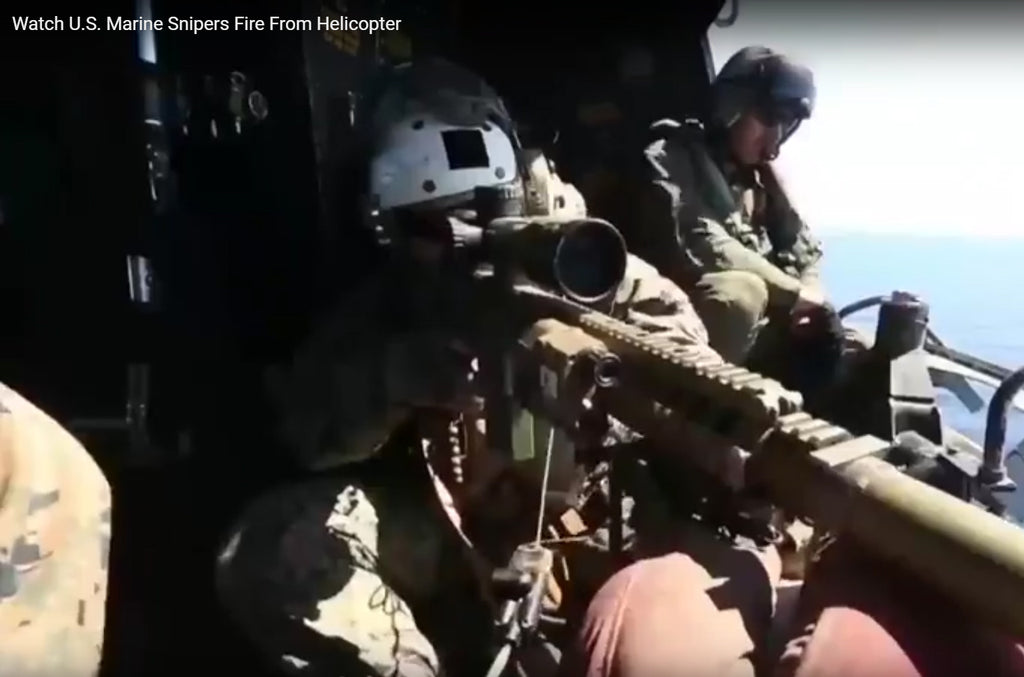 Video: U.S. Marine Snipers Conduct Aerial Live Fire Training