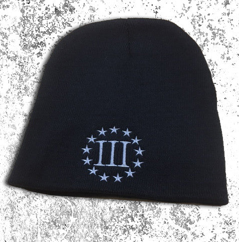 Black 3 Percenter Beanies