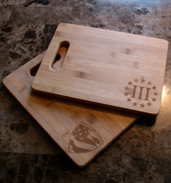 Fearless Nation and Three Percenter Cutting Boards