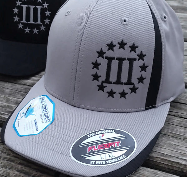 Grey 3 Percenter Flex Fit Cap