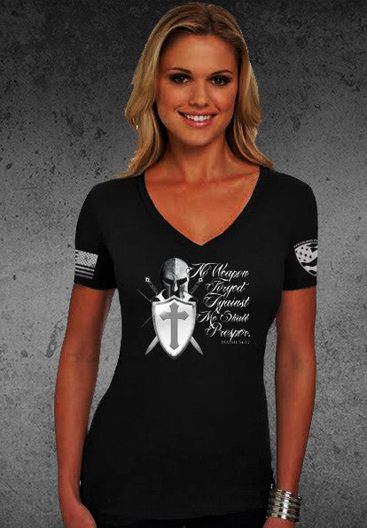 No Weapon Forged Women's V Neck