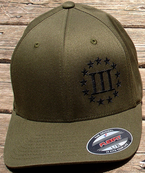 Grunt Green 3 Percenter Flex Fit Cap