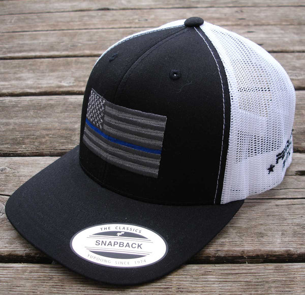 Thin Blue Line Cap with (Silver Flag)