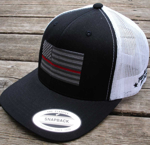 Thin Red Line Cap with (Silver Flag)