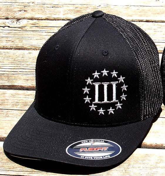 Black 3 Percenter Flex Fit Cap