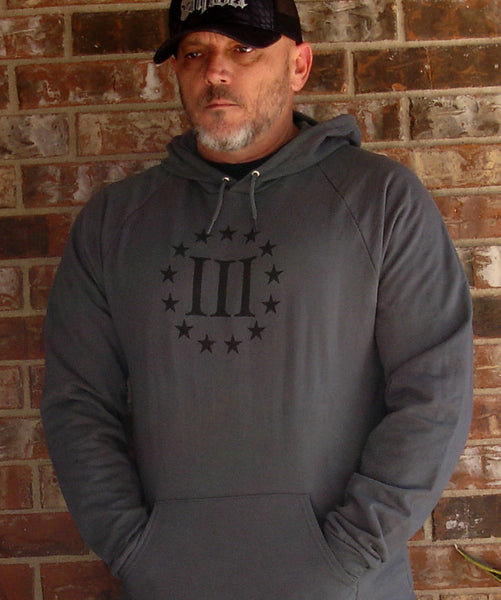 Three Percenter Hoodie (black fleece)
