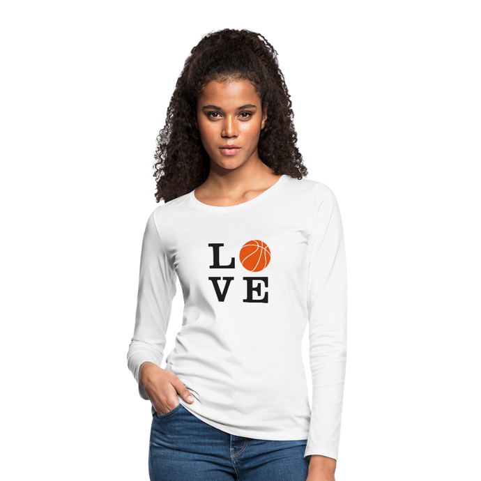 LOVE Basketball - white