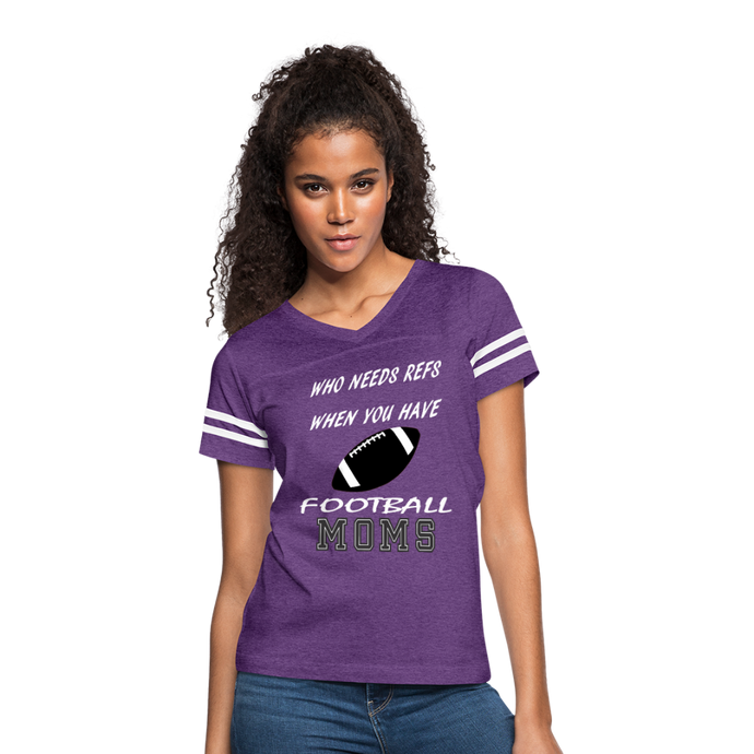 Who Needs Refs-Football Moms - vintage purple/white