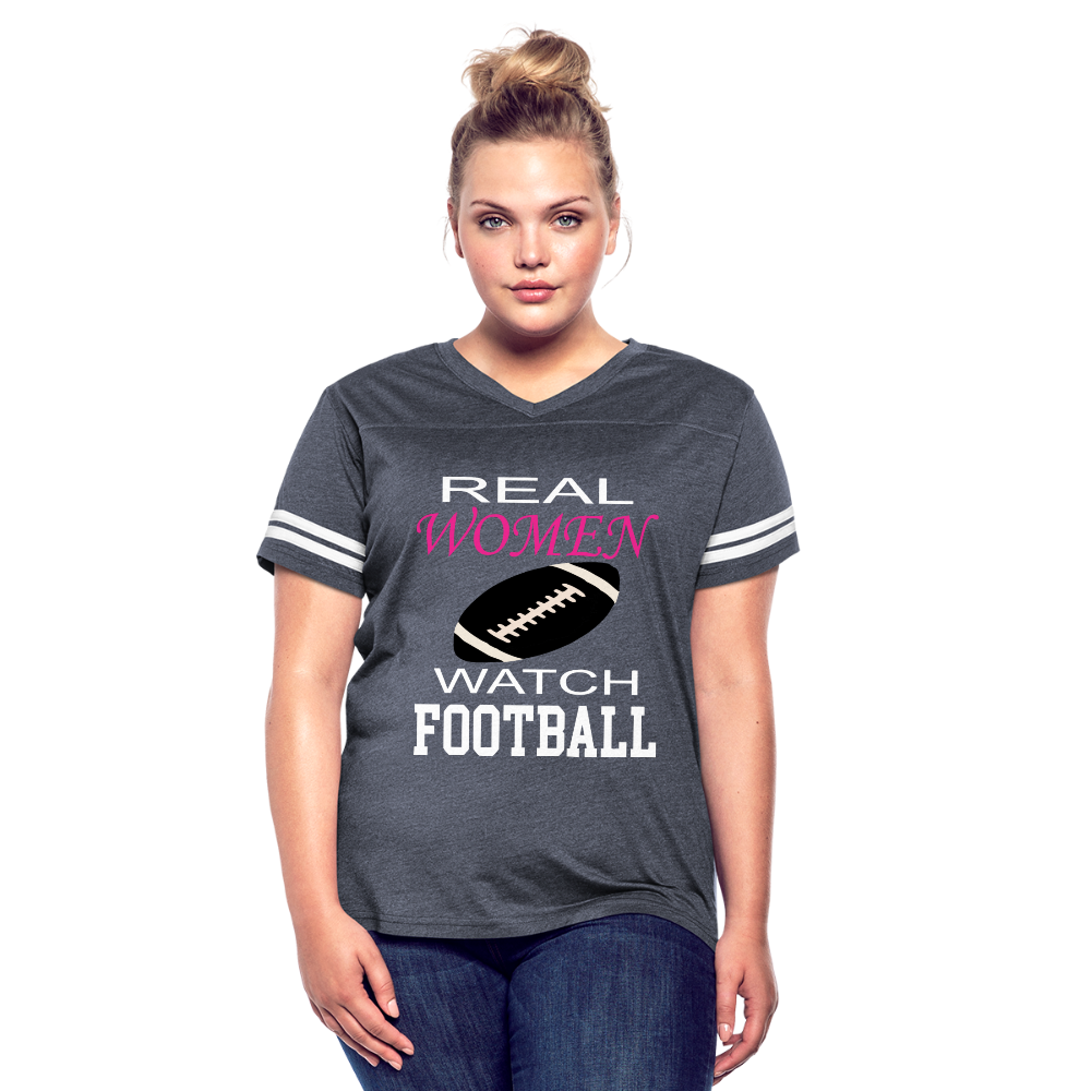 Real Women Watch Football - vintage navy/white