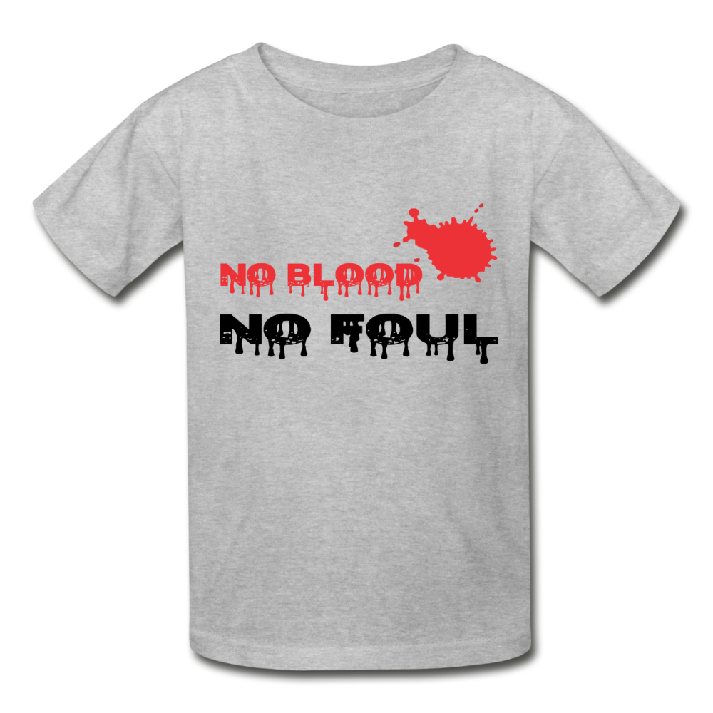 No Blood-No Foul (kids) - heather gray