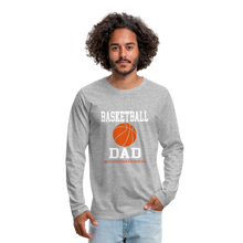 BASKETBALL DAD - heather gray