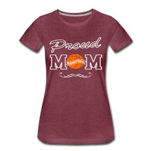 Proud Basketball Mom - heather burgundy