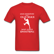 Never Underestimate An Old Man t-shirt - red